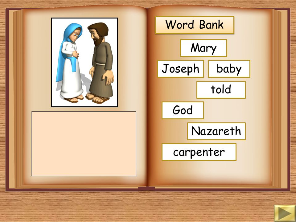 Word Bank Mary angel God came message baby