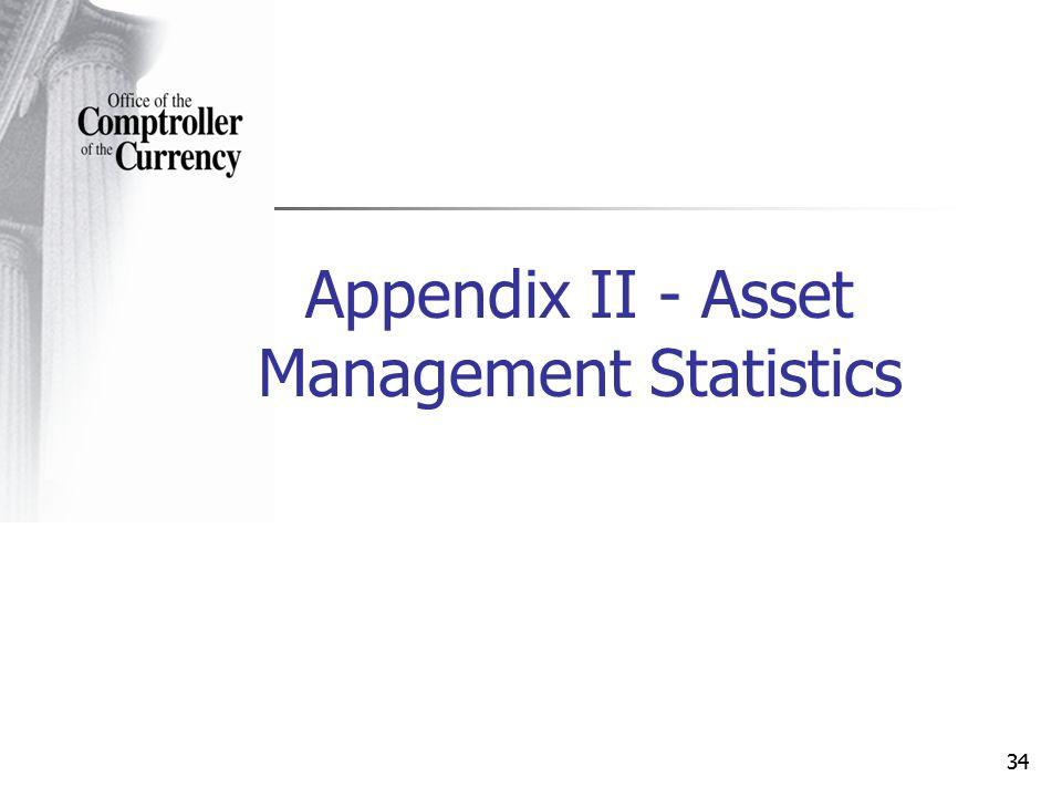 34 Appendix II - Asset Management Statistics