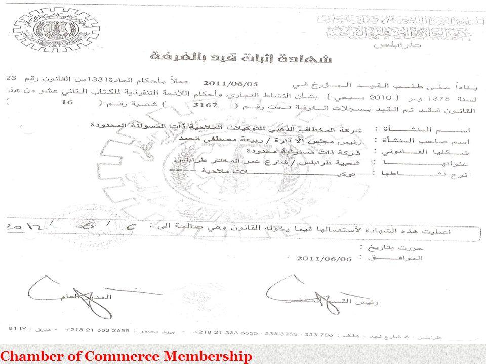 Chamber of Commerce Membership