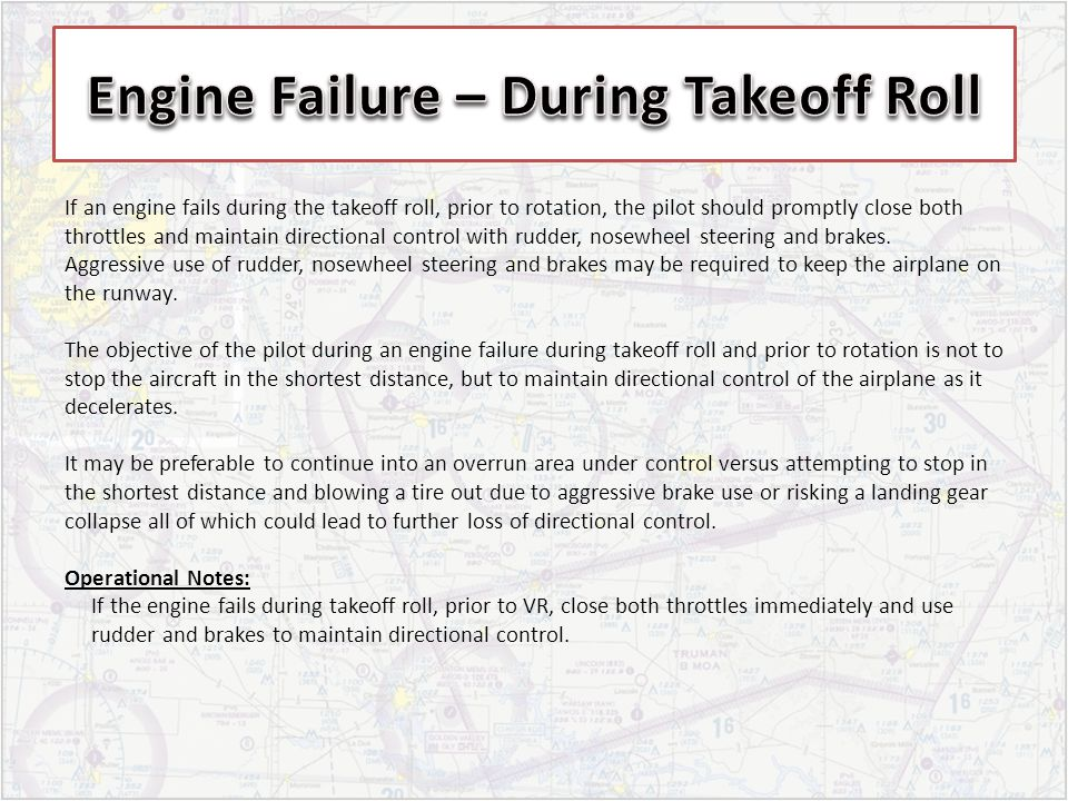 If an engine fails during the takeoff roll, prior to rotation, the pilot should promptly close both throttles and maintain directional control with ru
