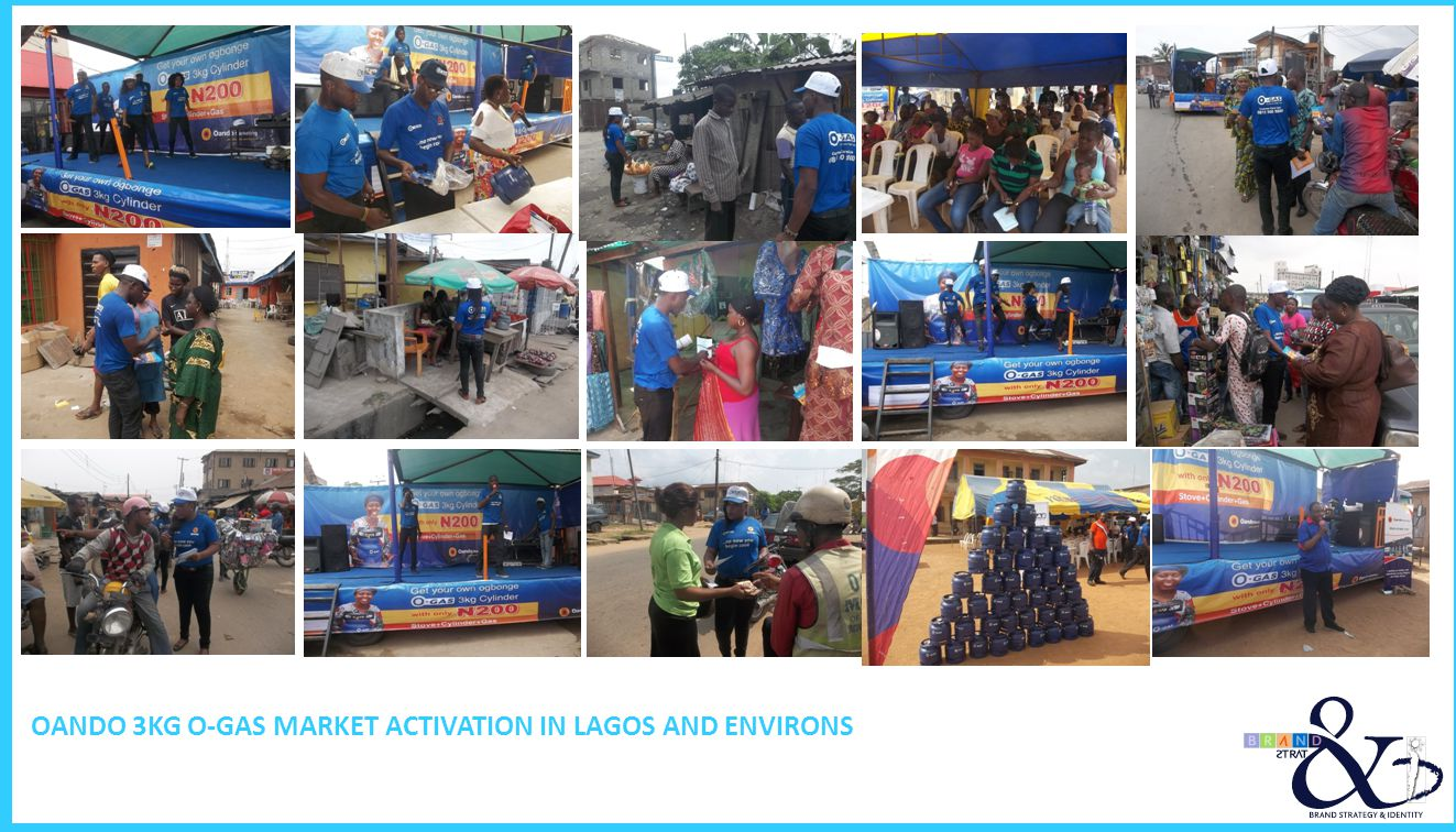 OANDO 3KG O-GAS MARKET ACTIVATION IN LAGOS AND ENVIRONS