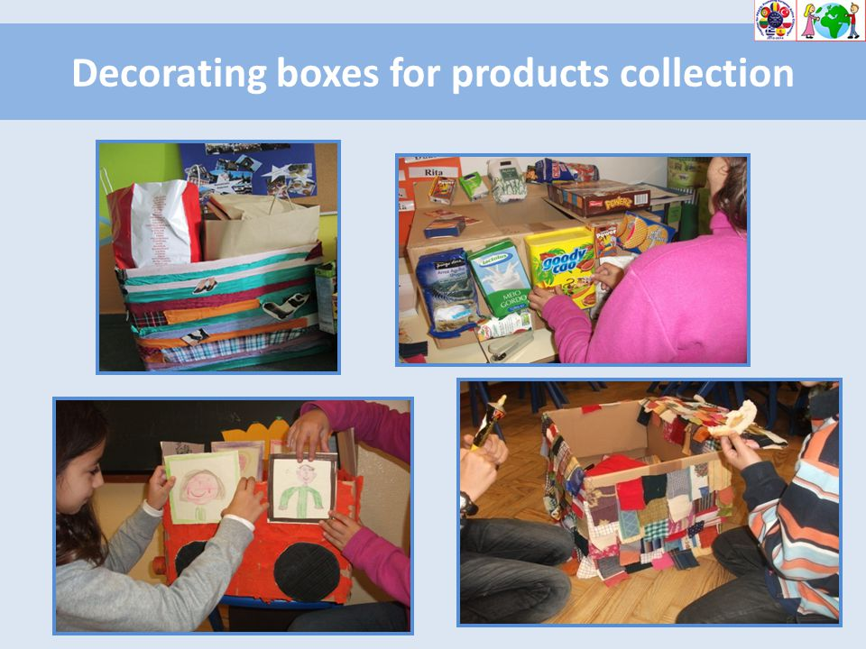 Decorating boxes for products collection