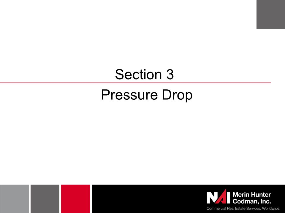 Section 3 Pressure Drop