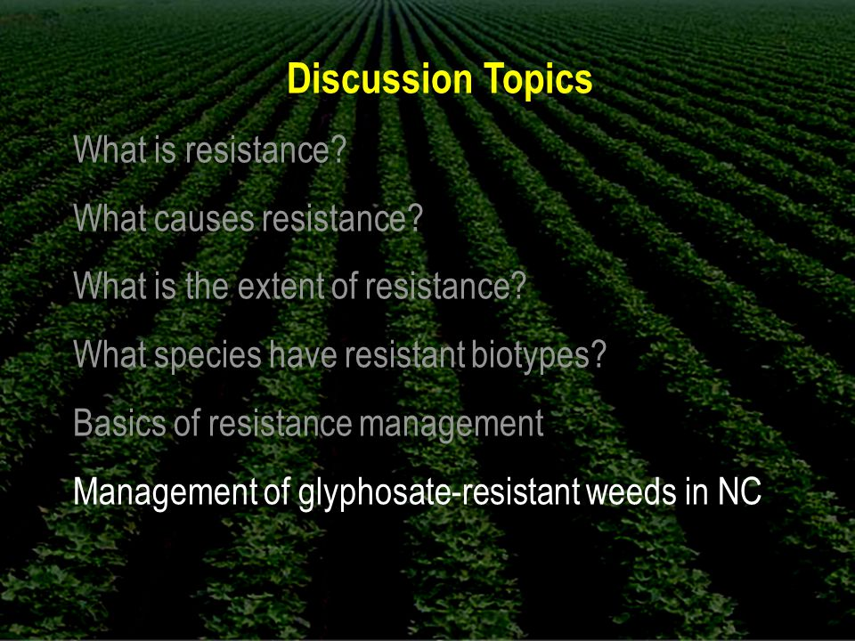 Discussion Topics What is resistance. What causes resistance.