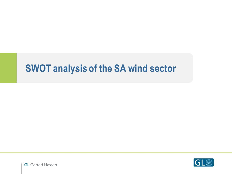 SWOT analysis of the SA wind sector