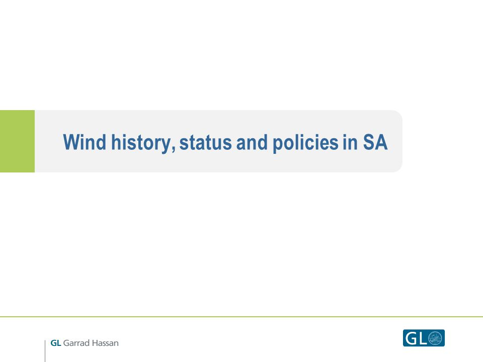 Wind history, status and policies in SA