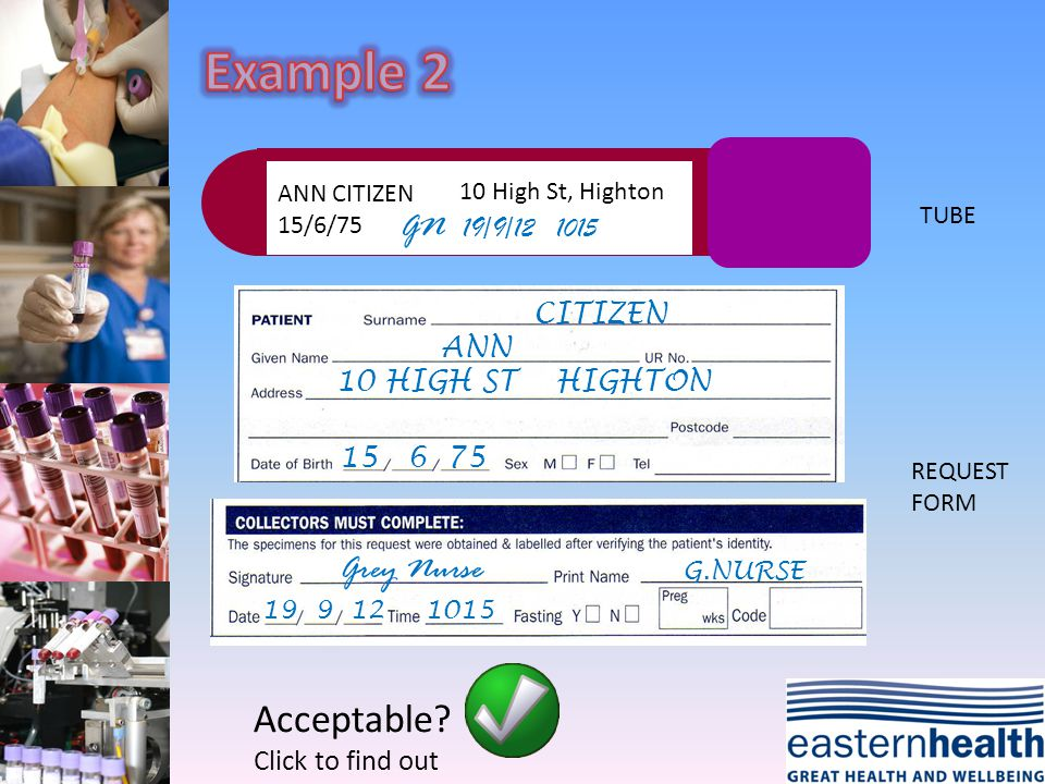 ANN CITIZEN 15/6/75 GN 19/9/12 1015 CITIZEN ANN 15 6 75 G.NURSE Grey Nurse 19 9 121015 TUBE REQUEST FORM Acceptable? Click to find out 10 High St, Hig