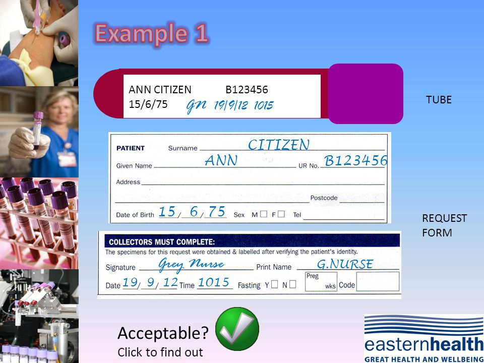 ANN CITIZEN 15/6/75 GN 19/9/12 1015 CITIZEN ANN 15 6 75 G.NURSE Grey Nurse 19 9 121015 TUBE REQUEST FORM Acceptable.