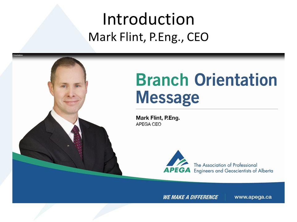 Introduction Mark Flint, P.Eng., CEO