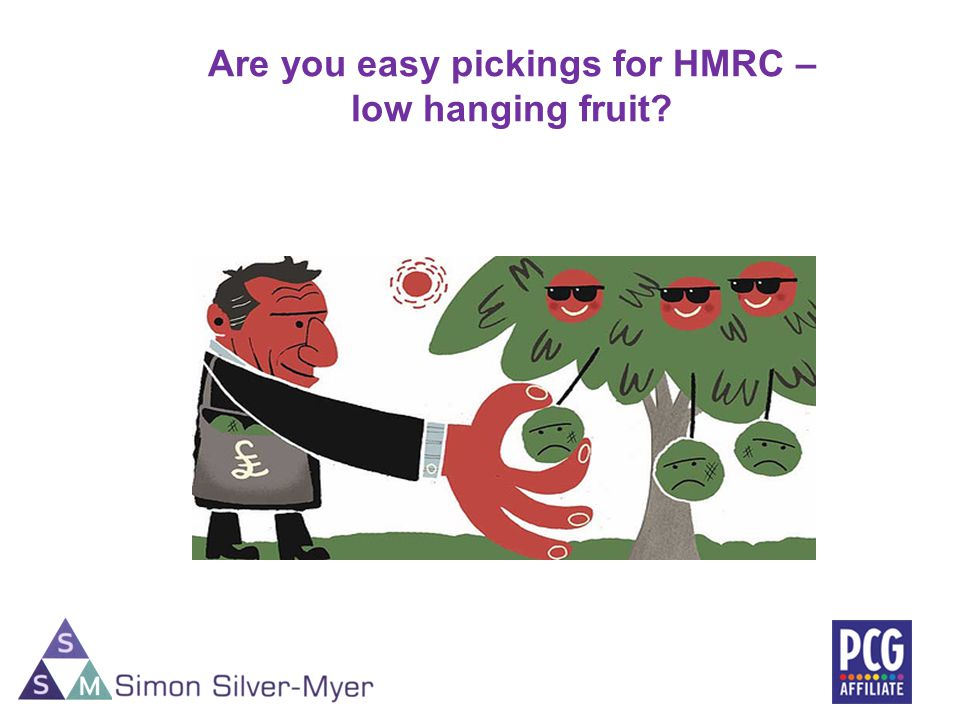 Are you easy pickings for HMRC – low hanging fruit? 25
