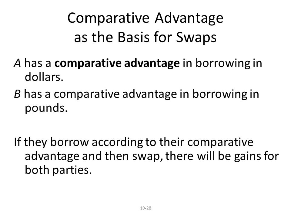 10-28 A has a comparative advantage in borrowing in dollars.