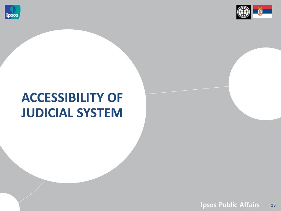 23 ACCESSIBILITY OF JUDICIAL SYSTEM
