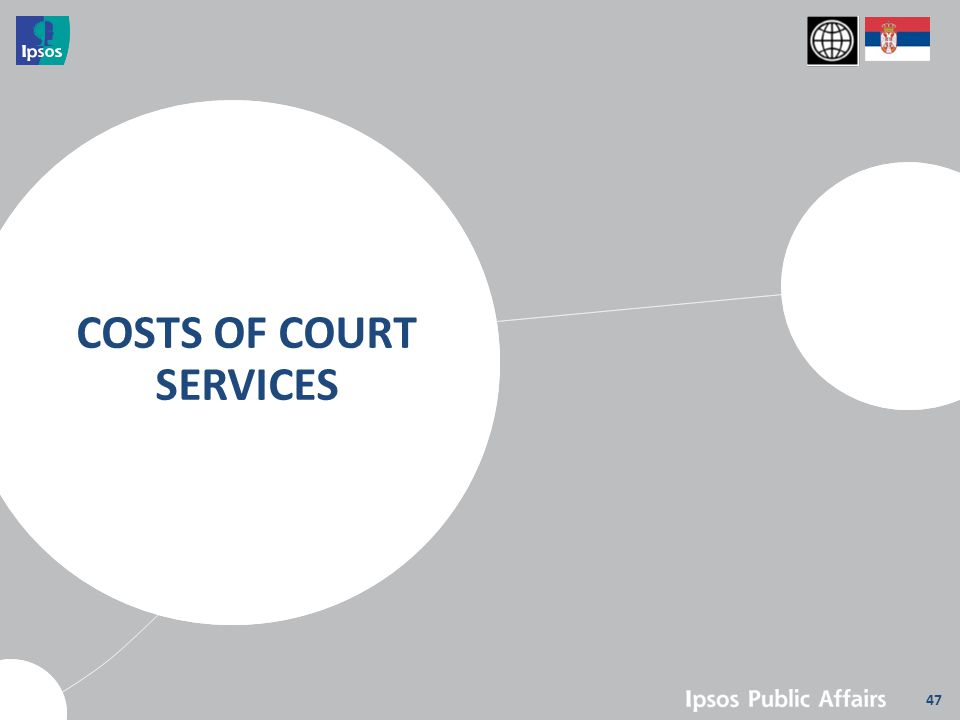 47 COSTS OF COURT SERVICES