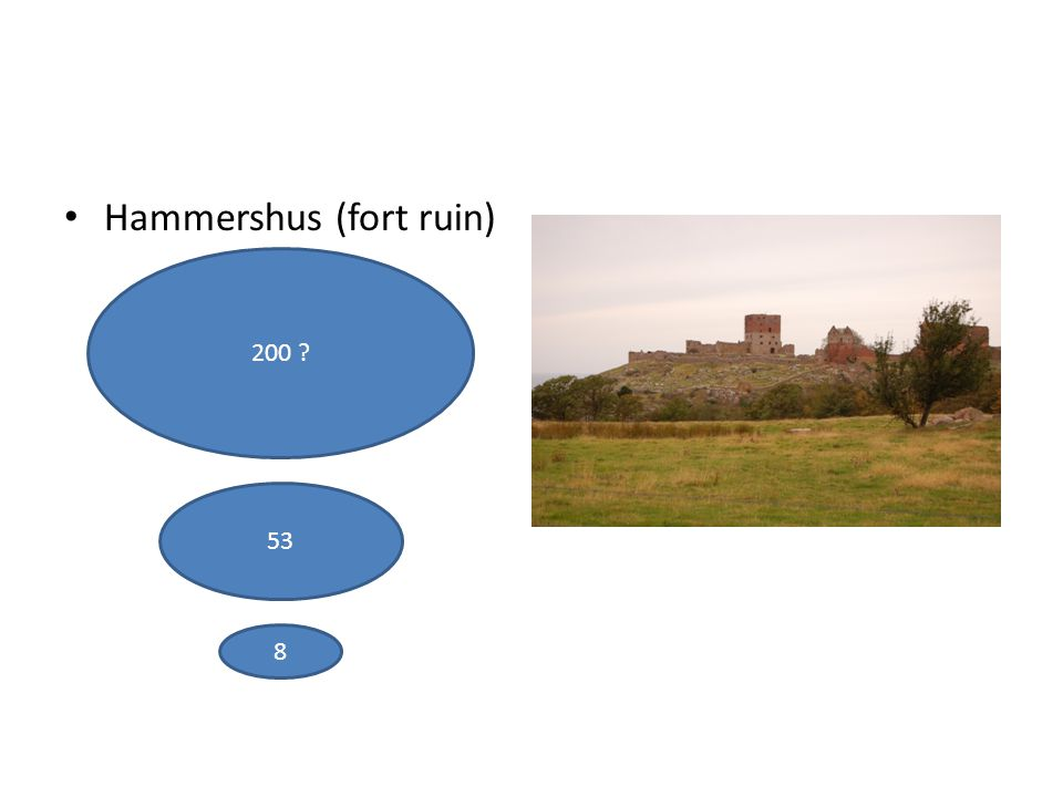 Hammershus (fort ruin) 200 ? 53 8