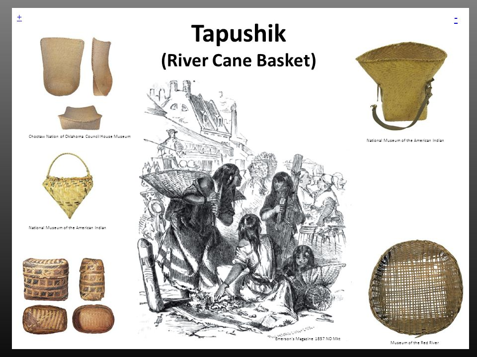 Tapushik (River Cane Basket) Emerson's Magazine 1857 NO Mkt Museum of the Red River National Museum of the American Indian Choctaw Nation of Oklahoma