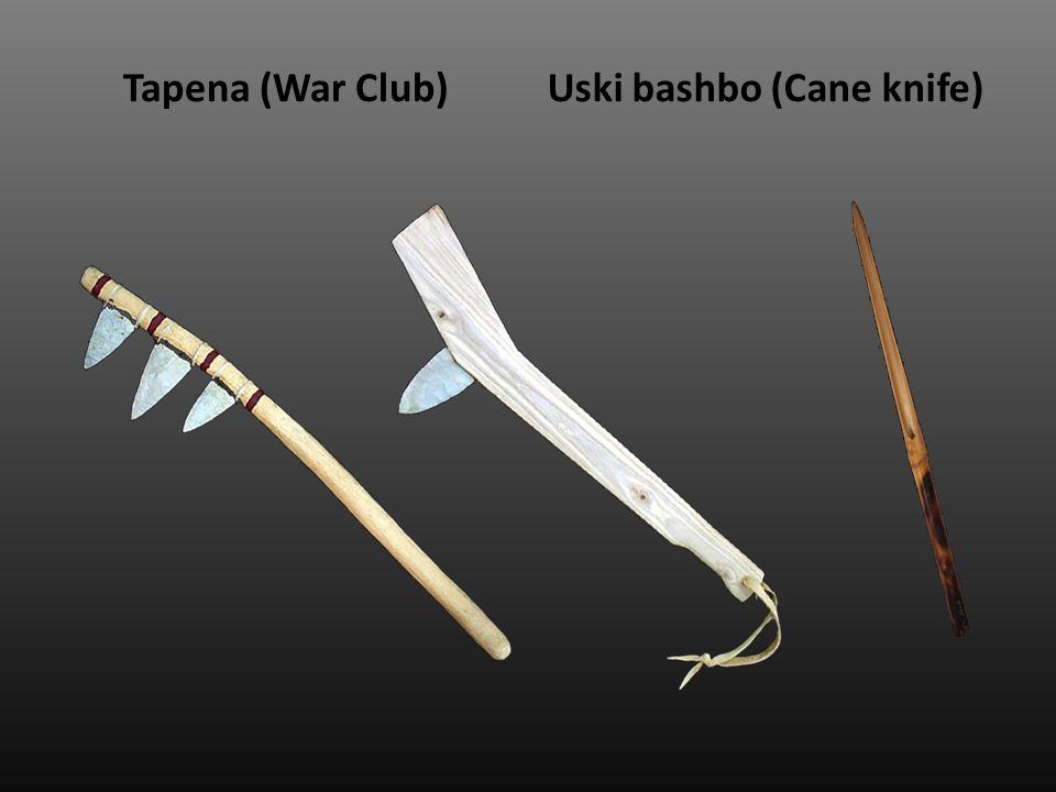 Tapena (War Club)Uski bashbo (Cane knife)