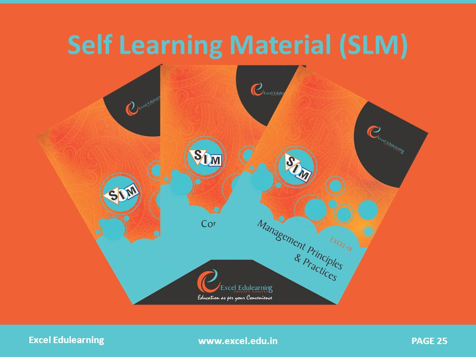 Self Learning Material (SLM) www.excel.edu.in Excel Edulearning PAGE 25