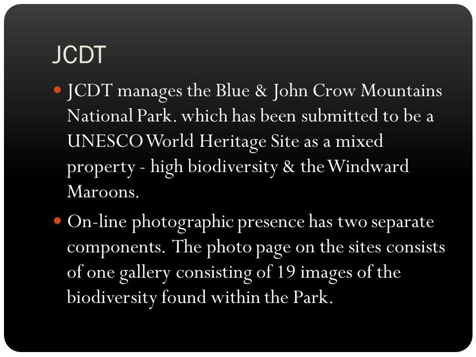 JCDT JCDT manages the Blue & John Crow Mountains National Park.
