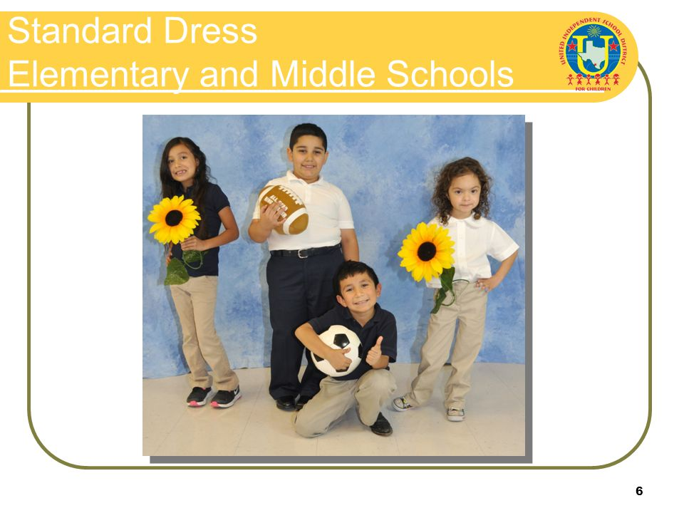 6 Standard Dress Elementary and Middle Schools