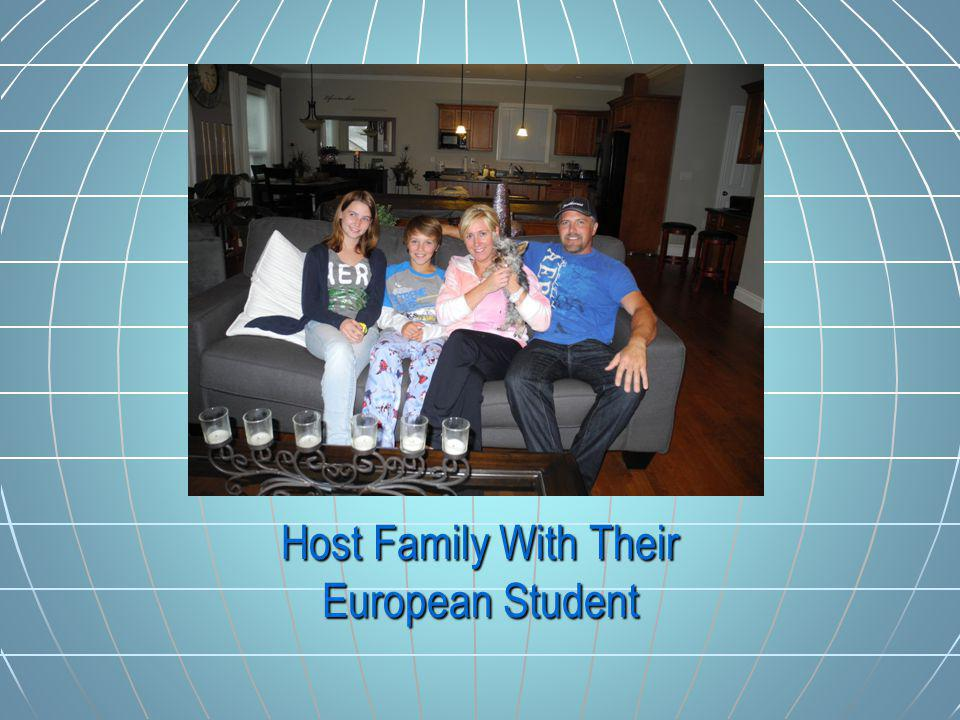 Host Family With Their European Student