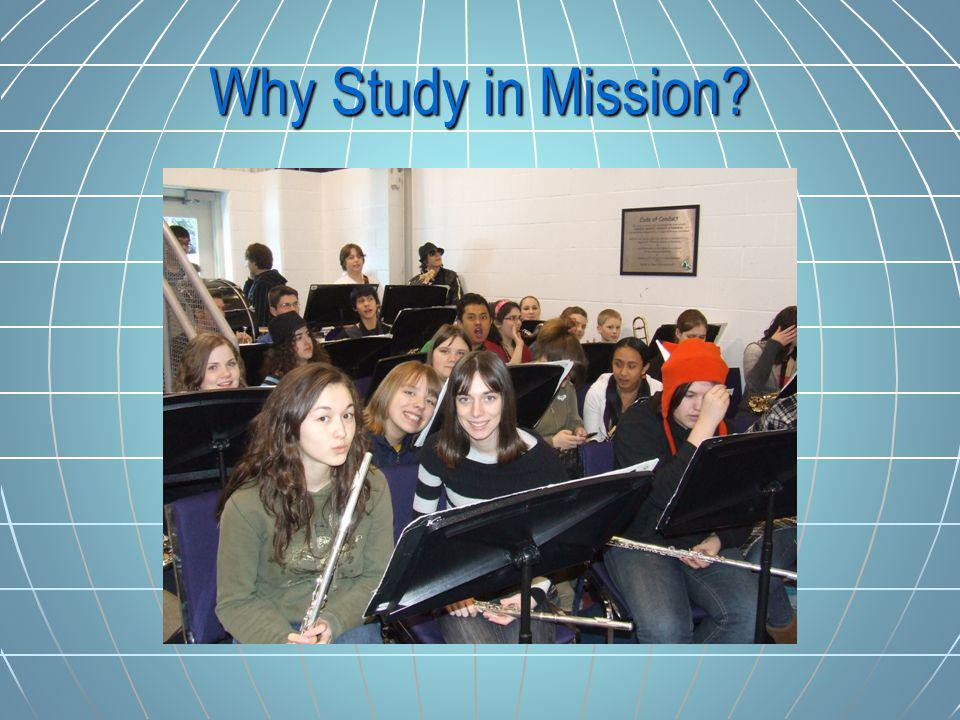 Why Study in Mission?