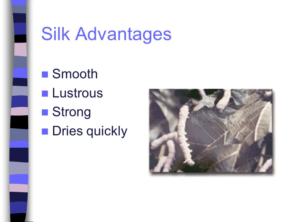 Silk Advantages Smooth Lustrous Strong Dries quickly