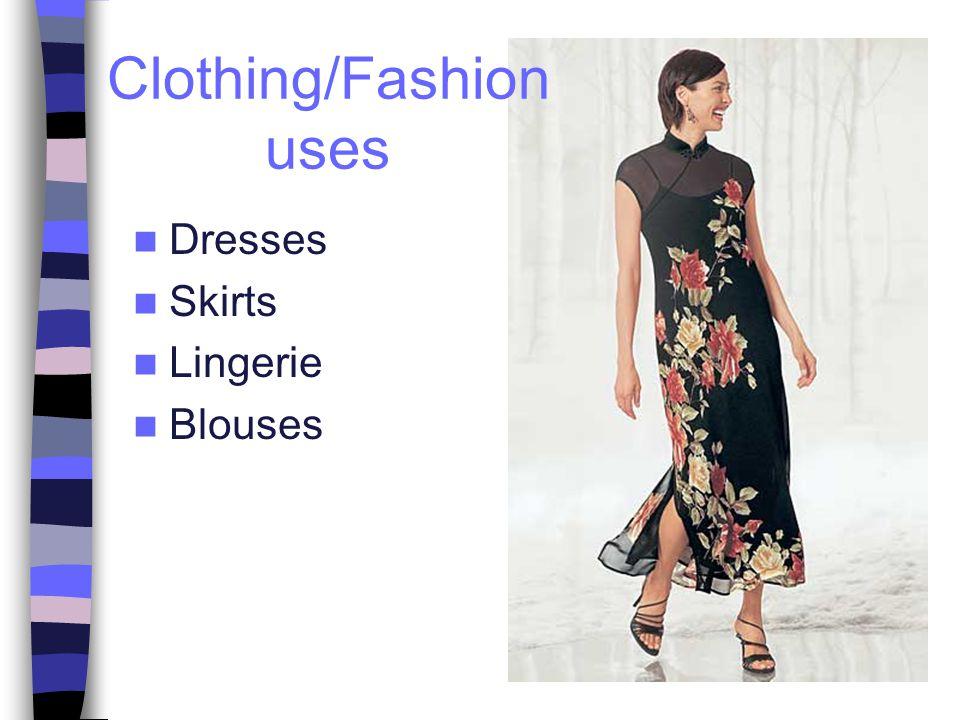 Dresses Skirts Lingerie Blouses Clothing/Fashion uses