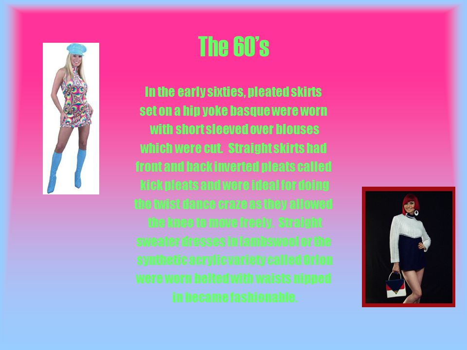 70s By 1970 women chose who they wanted to be and if they felt like wearing a short mini skirt one day and a maxi dress, midi skirt or hot pants the next day - that s what they did.