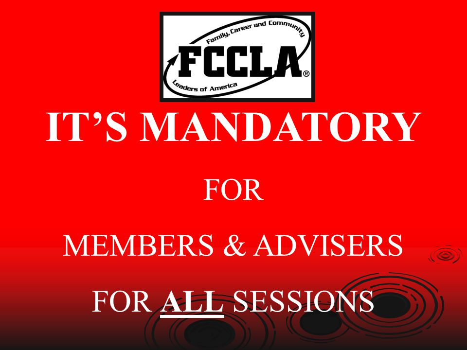 ITS MANDATORY FOR MEMBERS & ADVISERS FOR ALL SESSIONS