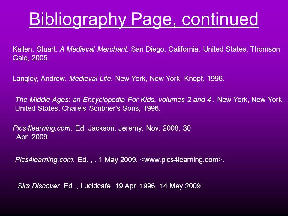 Bibliography Page Bibliography Page Elliott, Lynne.