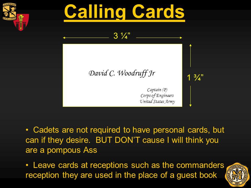 Calling Cards David C.