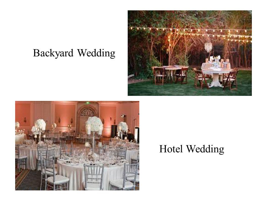 Backyard Wedding Hotel Wedding