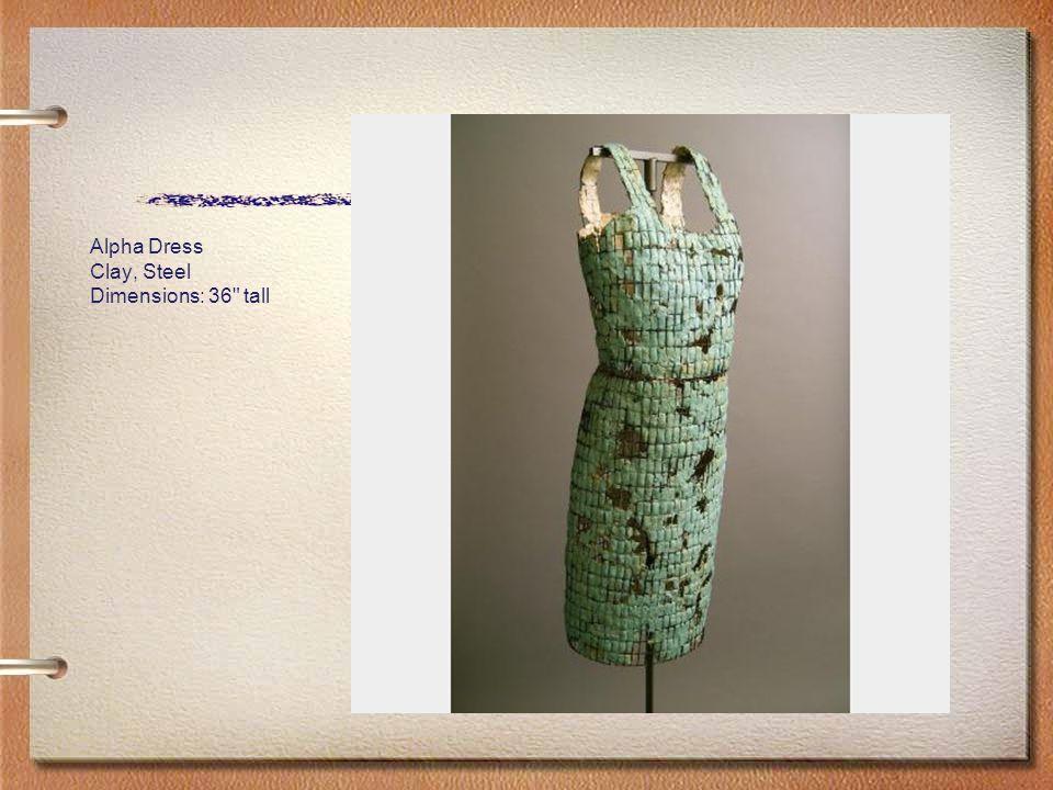 Alpha Dress Clay, Steel Dimensions: 36