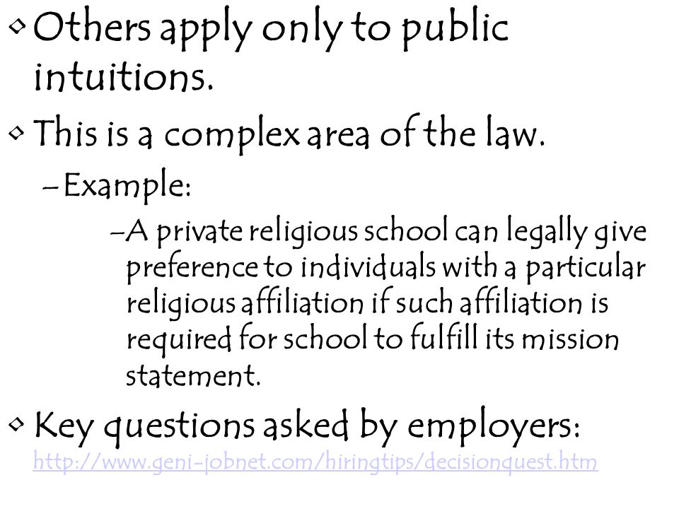 Freedom of Association Can/should schools be allowed to dismiss teachers if they belong to radical organizations.