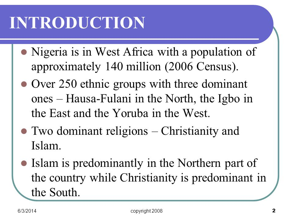 6/3/2014copyright 2008 33 NATIONAL LEGAL INSTRUMENT 1 The National Legal Instrument for the protection of religious freedom lies in the 1999 Constitution of the Federal Republic of Nigeria.