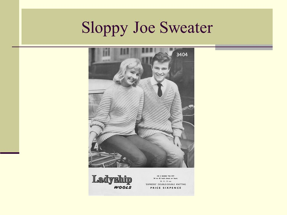 Sloppy Joe Sweater