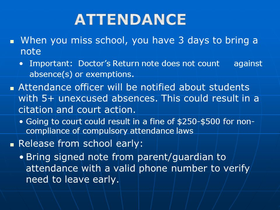 Once on campus you may not leave without parent/guardian permission.