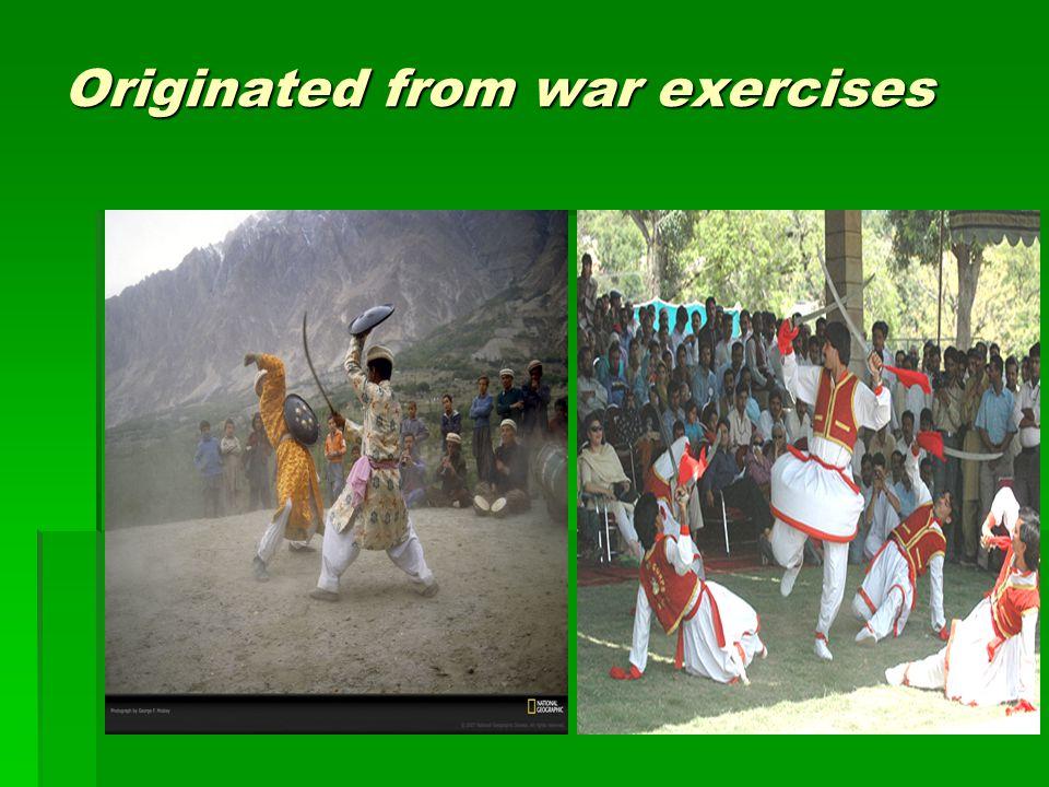 Originated from war exercises