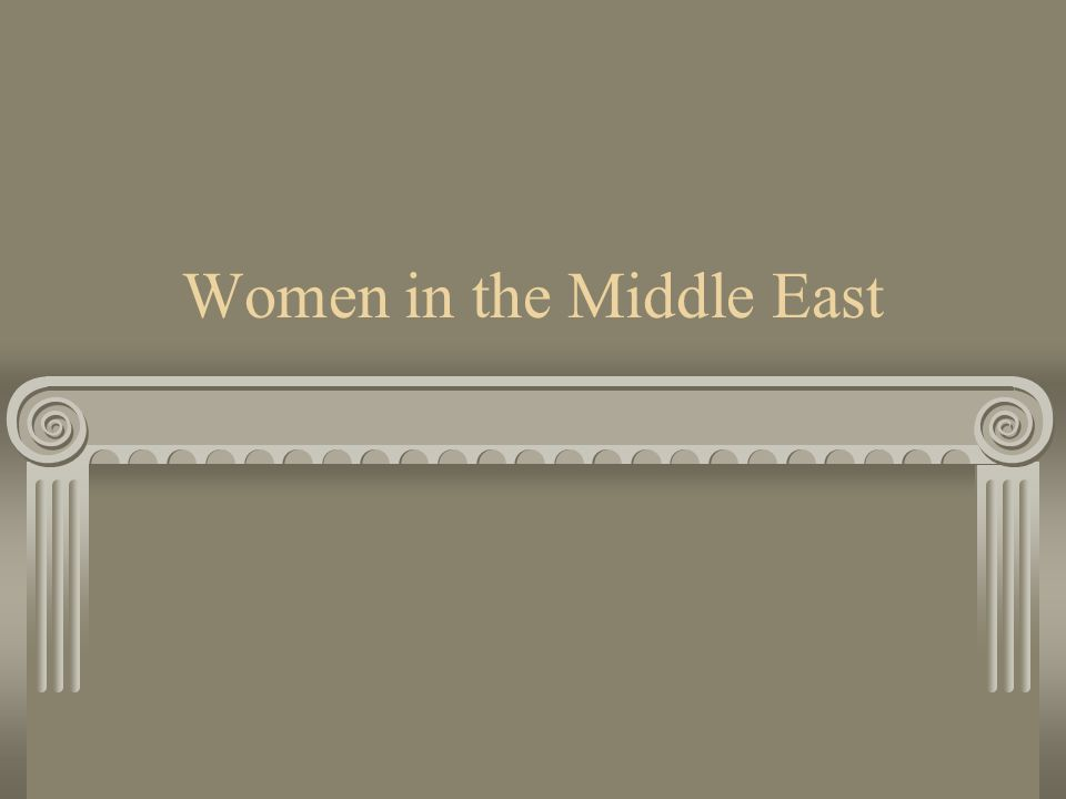 Women in the Middle East
