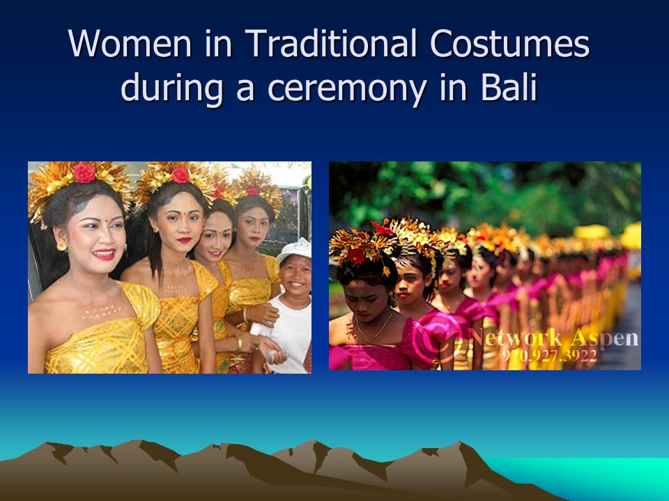 Women in Traditional Costumes during a ceremony in Bali