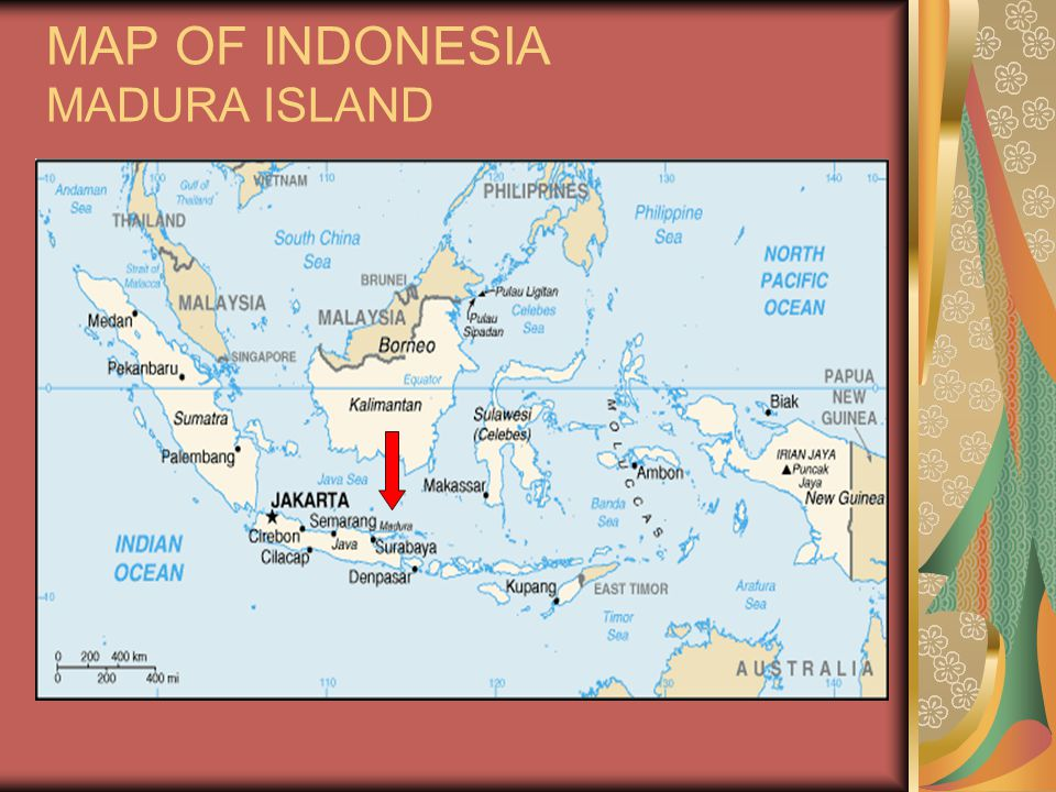 MAP OF INDONESIA MADURA ISLAND