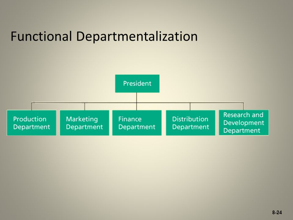 8-24 Functional Departmentalization