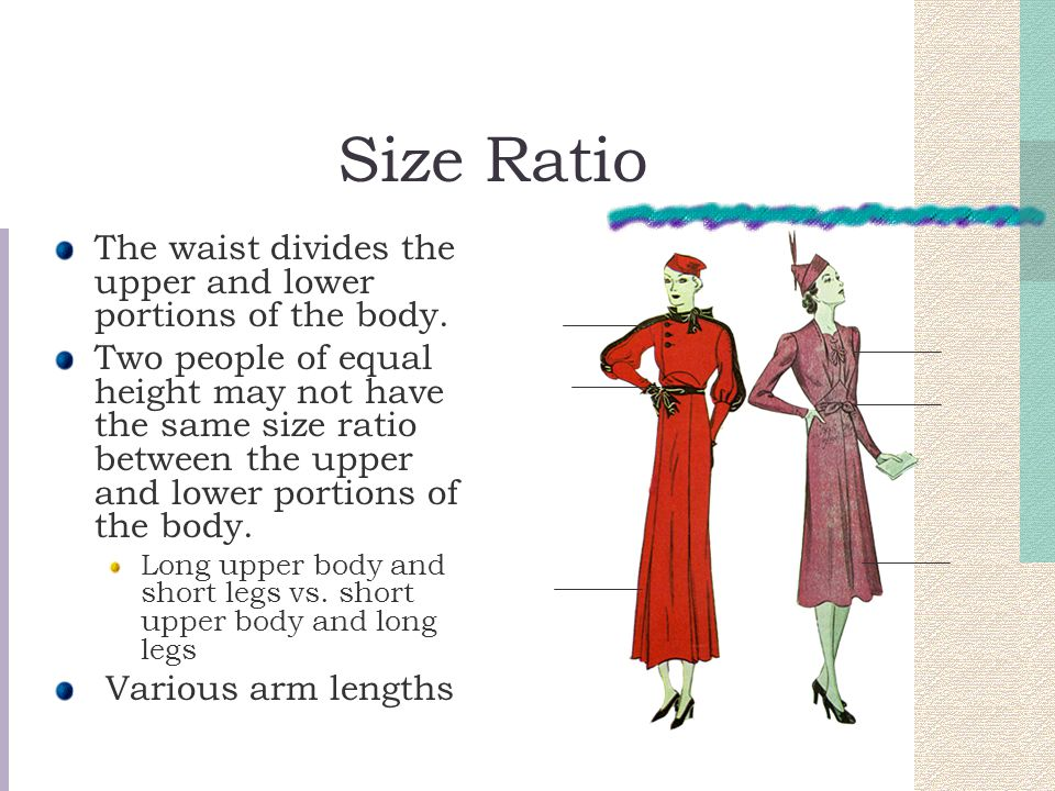 Proportion Defined: how separate parts of a garment relate to each other and to the whole in size.