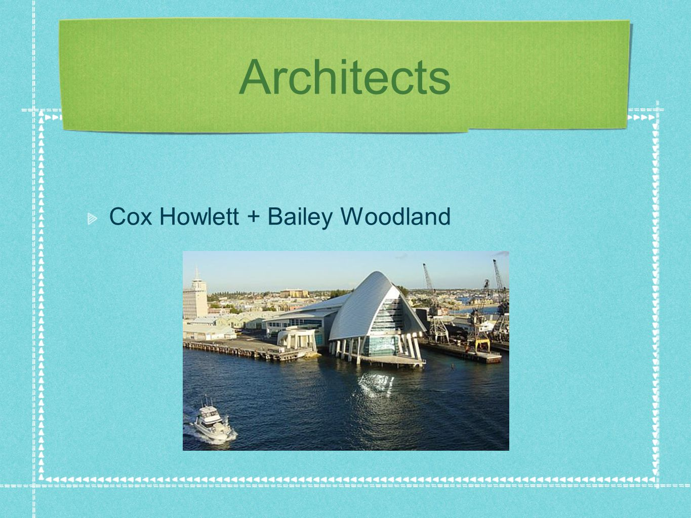 Architects Cox Howlett + Bailey Woodland