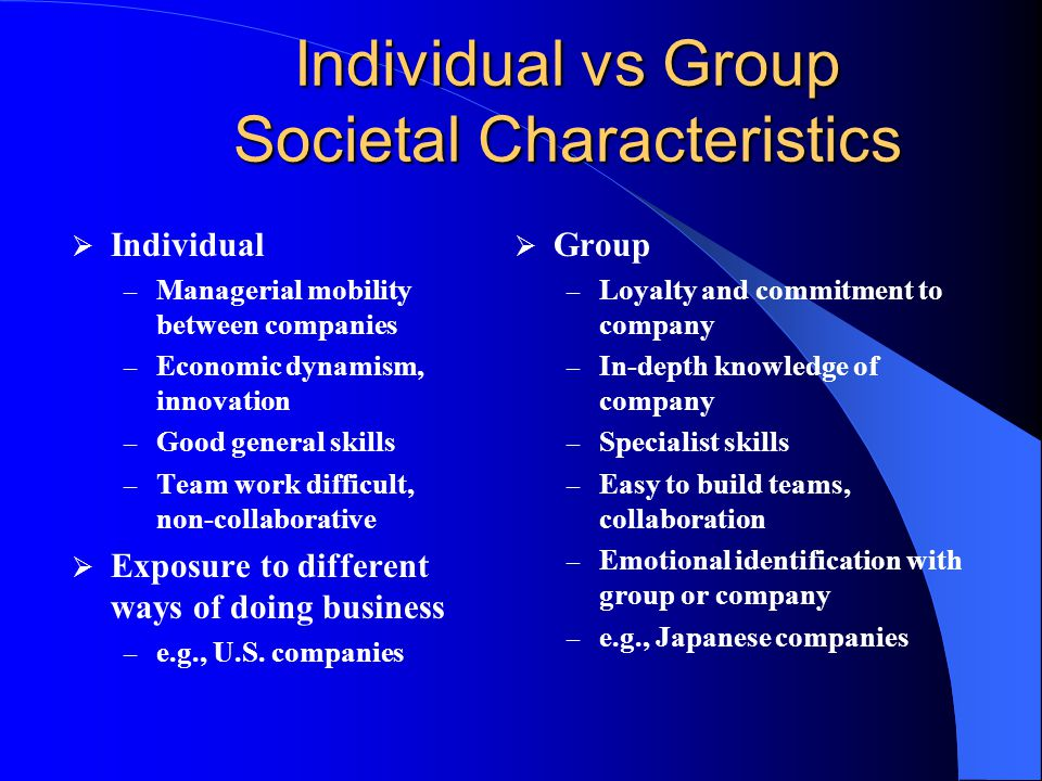 Social Structure and Culture Unit of social organization: individual or group? Society may be stratified into classes or castes High-low stratificatio