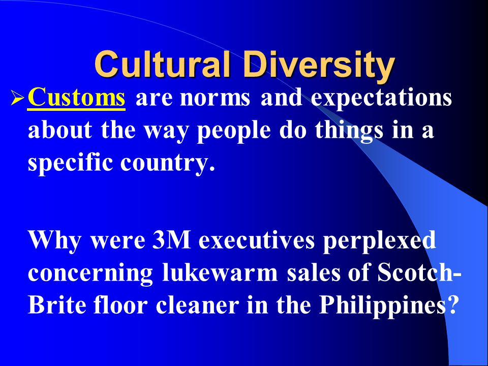 Cultural Diversity Values represent personal or socially preferable modes of conduct or states of existence that are enduring. Why doesnt McDonalds se