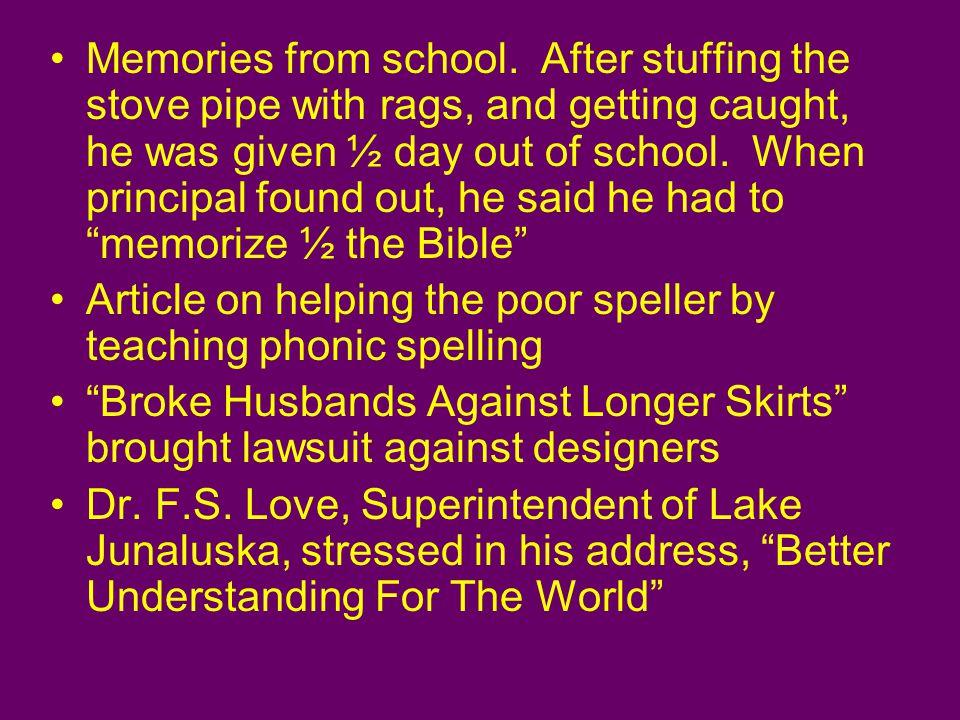 Memories from school.