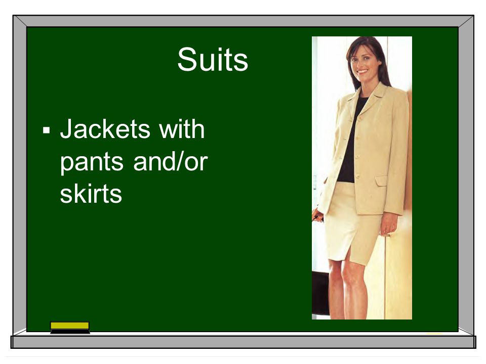 Suits Jackets with pants and/or skirts