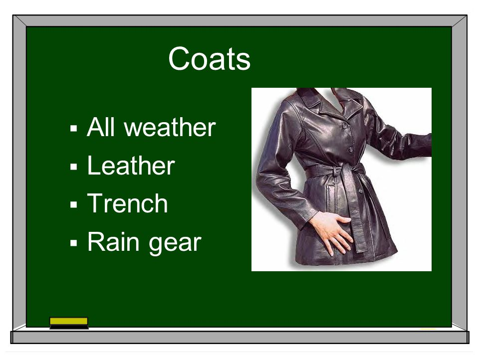 Coats All weather Leather Trench Rain gear
