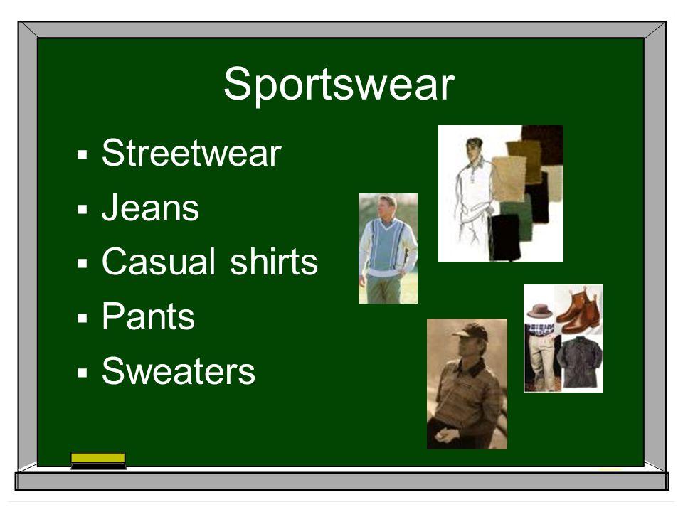 Sportswear Streetwear Jeans Casual shirts Pants Sweaters